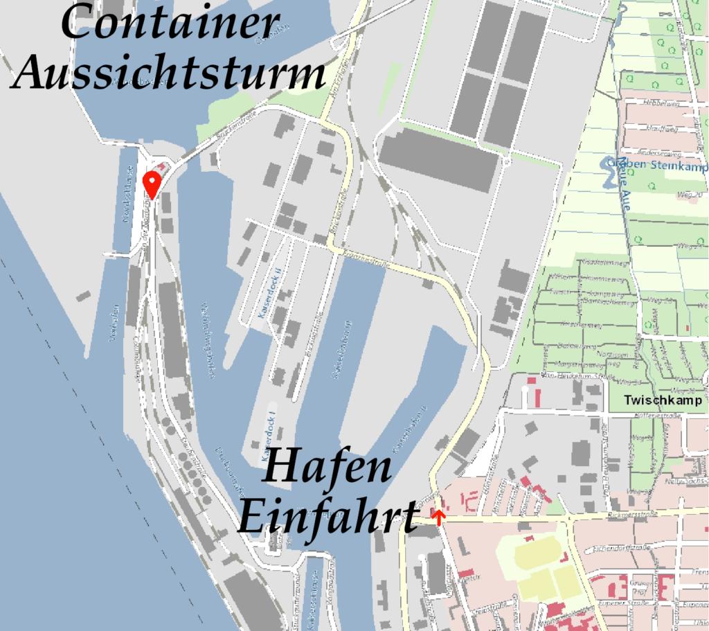 Wegbeschreibung Container Aussichtsturm